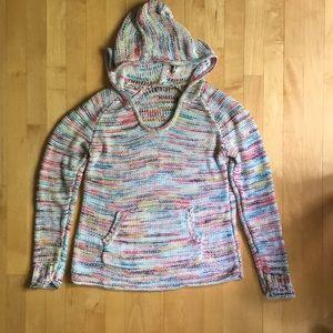3/$20 Eddie Bauer Westbridge hoody rainbow knit M